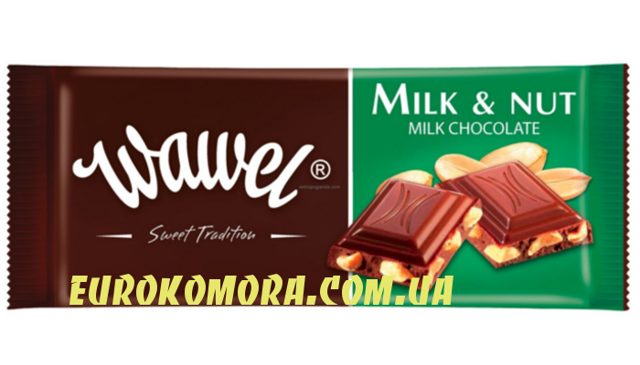 Шоколад Wawel Milk and Nut 100 гр